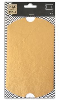L'Or de Bombay 5 Pillow boxes 11x19 cm Oro