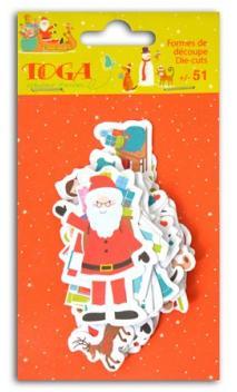 Conjunto de 51 formas fant. Navidad juguetes