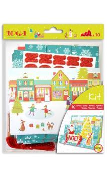 Set 10 postales Navidad en el pais de los juguetes