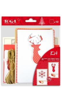 Set 10 postales Navidad Escandinava