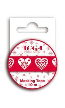 Masking Tape coeurs Escandinavas -10m