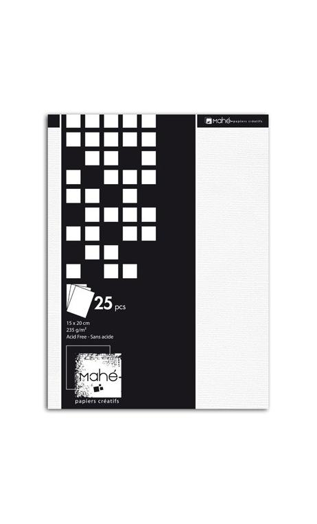 Bloc Deco Mahé Blanco 15x20cm 25f.