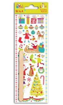Rub-ons fant. Navidad en el pais de los juguetes - 1 hoja 7,5x20cm