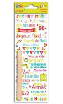 Rub-ons palabras Navidad en el pais de los juguetes - 1 hoja 7,5x20cm
