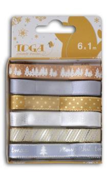 Conjunto de 6 cintas Oro/Plata