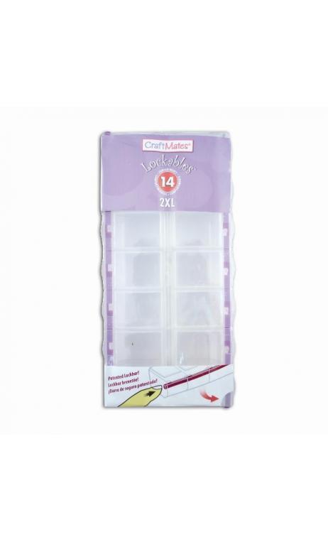 Cajas almacenaje MM - 2x7 compartimentos
