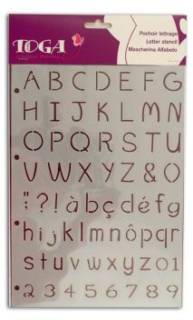 Plantilla abecedario - Calisson 21x30