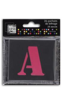 26 plantillas plástico letras 5cm