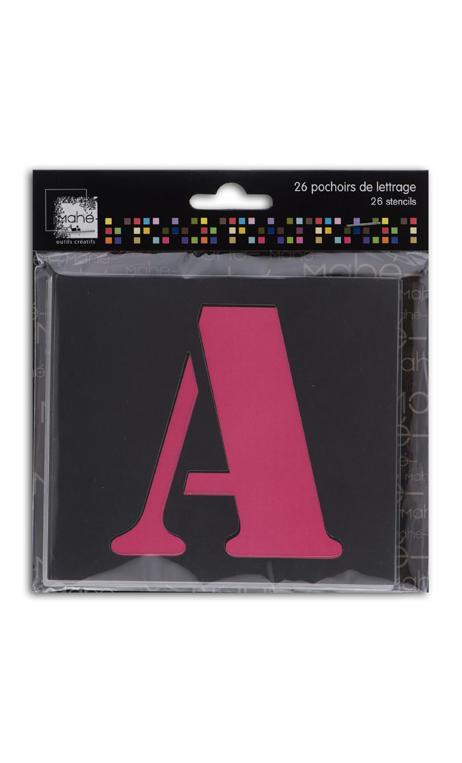 26 plantillas plástico letras 9cm