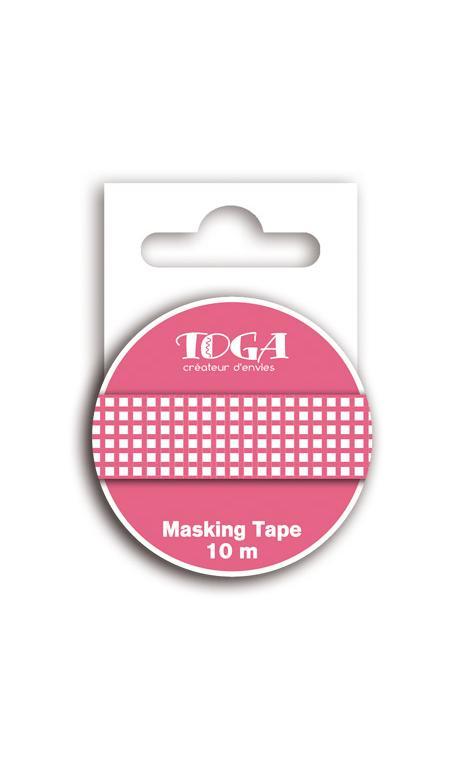 Masking tape vichy granadina - 10m
