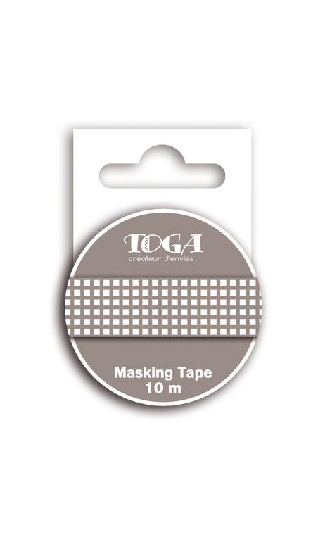 Masking tape vichy marrón oscuro - 10m