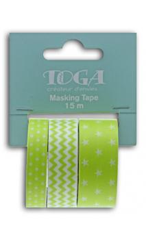 Masking tape x3 - geométrico anís - 5m