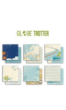 Lote de papel Globe trotter 30x30 - 1 hoja