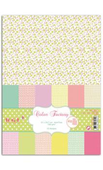 Color factory - A4 - 48 hojas flores et topos