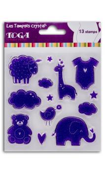 Surtido sellos crystal'® 11x11 nacimiento