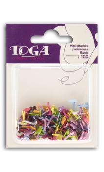 Surtido de 100 mini encuadernadores fantasia flores muticolores