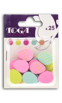 Surtido de 25 confettis Madera huevos
