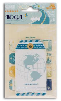 Surtido de 8 etiquetas globe trotter