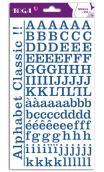 2 hojas de pegatinas alfabeto clásico bl. jean