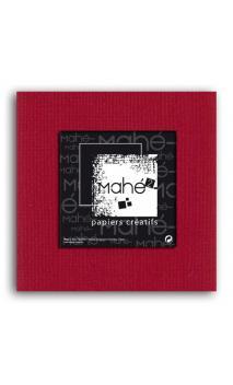 Mahé2-Tintado en masa 30x30 - rojo cereza 1 hoja - Pack 25 h.