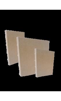 """Cubierta con Lomo Bamboo  Kraft 8x8"""" para Wire de 3/4"""""""