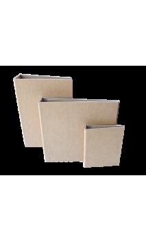 """Cubierta con Lomo Plano  Kraft 7.5x5"""" para Wire de 3/4"""""""