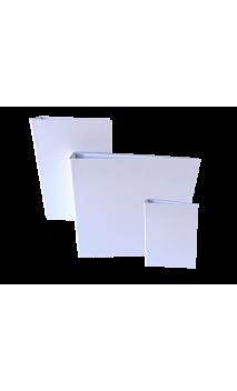 """Cubierta con Lomo Plano  Blanco 7.5X5"""" para Wire de 1"""""""