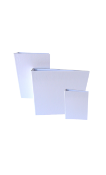 """Cubierta con Lomo Plano  Blanco 7.5X5"""" para Wire de 3/4"""""""