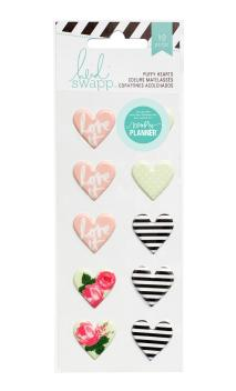 Stickers - HS - Hello Beautiful - Puffy - Hearts (10 Piece)