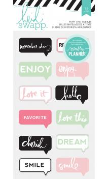 Stickers - HS - Hello Beautiful - Puffy - Chat Bubbles (12 Piece)