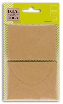 Conjunto 4 cartas + 4 sobres-kraft