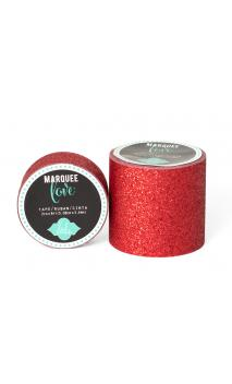 """Marquee Tape - HS - Glitter - 2"""" - Red - 8 Feet"""