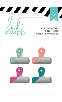 Embellishments - HS - Wanderlust - Painted Bulldog Clips (4 Piece)