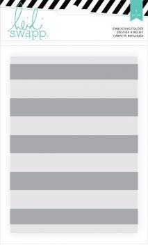 Embossing Folders - HS - Wanderlust - 5 x 7 - Stripe