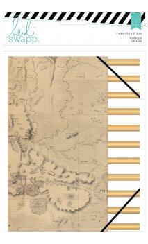 Portfolio Folder - HS - Wanderlust - 6 x 8 - Gold Foil