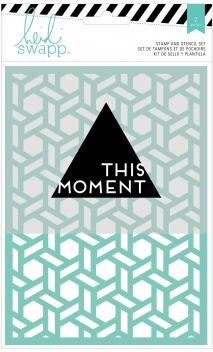 Stamp & Stencil Set - HS - Wanderlust - 5 x 7 - This Moment (2 Piece)