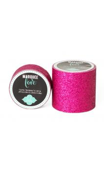 """Marquee Tape - HS - Glitter -7/8"""" - Pink - 10 Feet"""