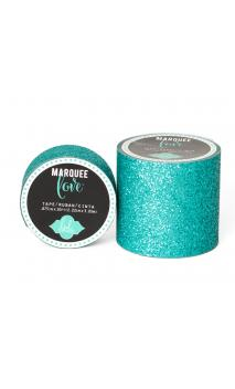 "Marquee Tape - HS - Glitter - 2"" - Teal - 8 Feet"