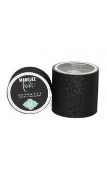 "Marquee Tape - HS - Glitter - 2"" - Black - 8 Feet"