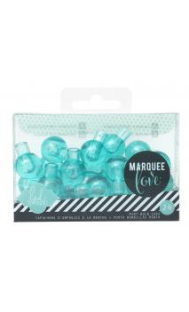 Marquee Accessories - HS - Extra Bulb Covers - Teal (24 Bulbs)