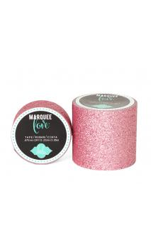 """Marquee Tape - HS - Glitter - 2"""" - Pale Pink - 8 Feet"""
