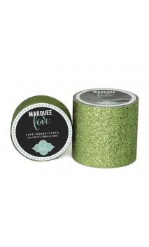 """Marquee Tape - HS - Glitter - 7/8"""" - Lime Green - 10 Feet"""