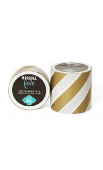"Marquee Tape - HS - Washi - 7/8"" - Gold Foil Stripe - 12 Feet"