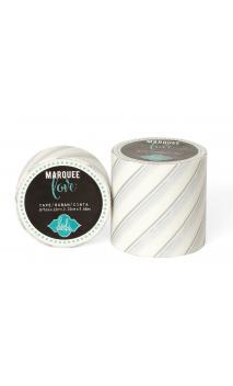 "Marquee Tape - HS - Washi - 2"" - Silver Foil Pinstripe - 9 Feet"