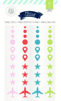 Embellishments - PP - Atlas - Enamel Shapes (40 Piece)