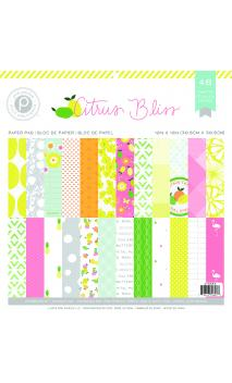 Paper Pad - Patterned - PP - Citrus Bliss - 12 x 12 - 48 Sheets