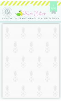 Embossing Folder - PP - Citrus Bliss - Pineapple