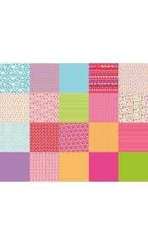 100 papel origami 15x15 Beach girl