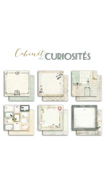 Surtido 6 papeles R/V 30x30 Cabinet de curiosités