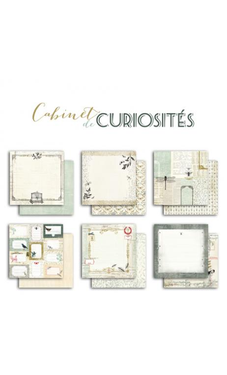 Conjunto 6 papeles R/V 30x30 Cabinet de curiosités